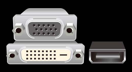D-Sub + DVI-D + HDMI