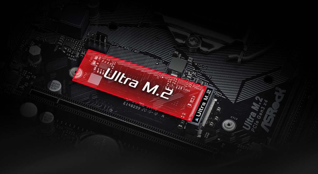 Ultra M.2 32 Gb/s (PCIe Gen3 x4 & SATA3)