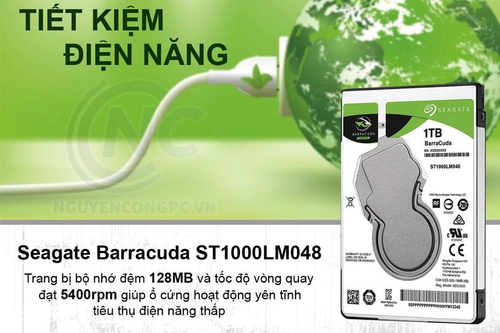 Ổ cứng HDD Laptop Seagate Barracuda 1TB 5400RPM 128MB Cache 2.5 Inch SATA3