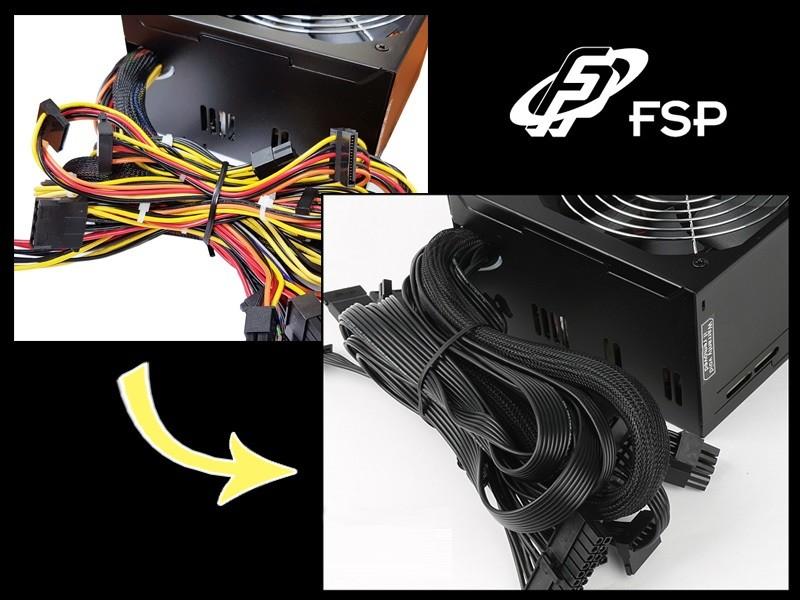Hyper K HP500 đi kèm với thiết kế đường +12 và cáp SATA dẹt