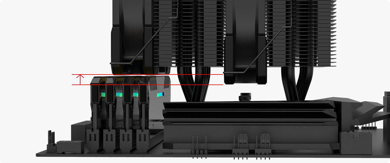 ID-Cooling SE-207-XT Black Tương thích RAM cao