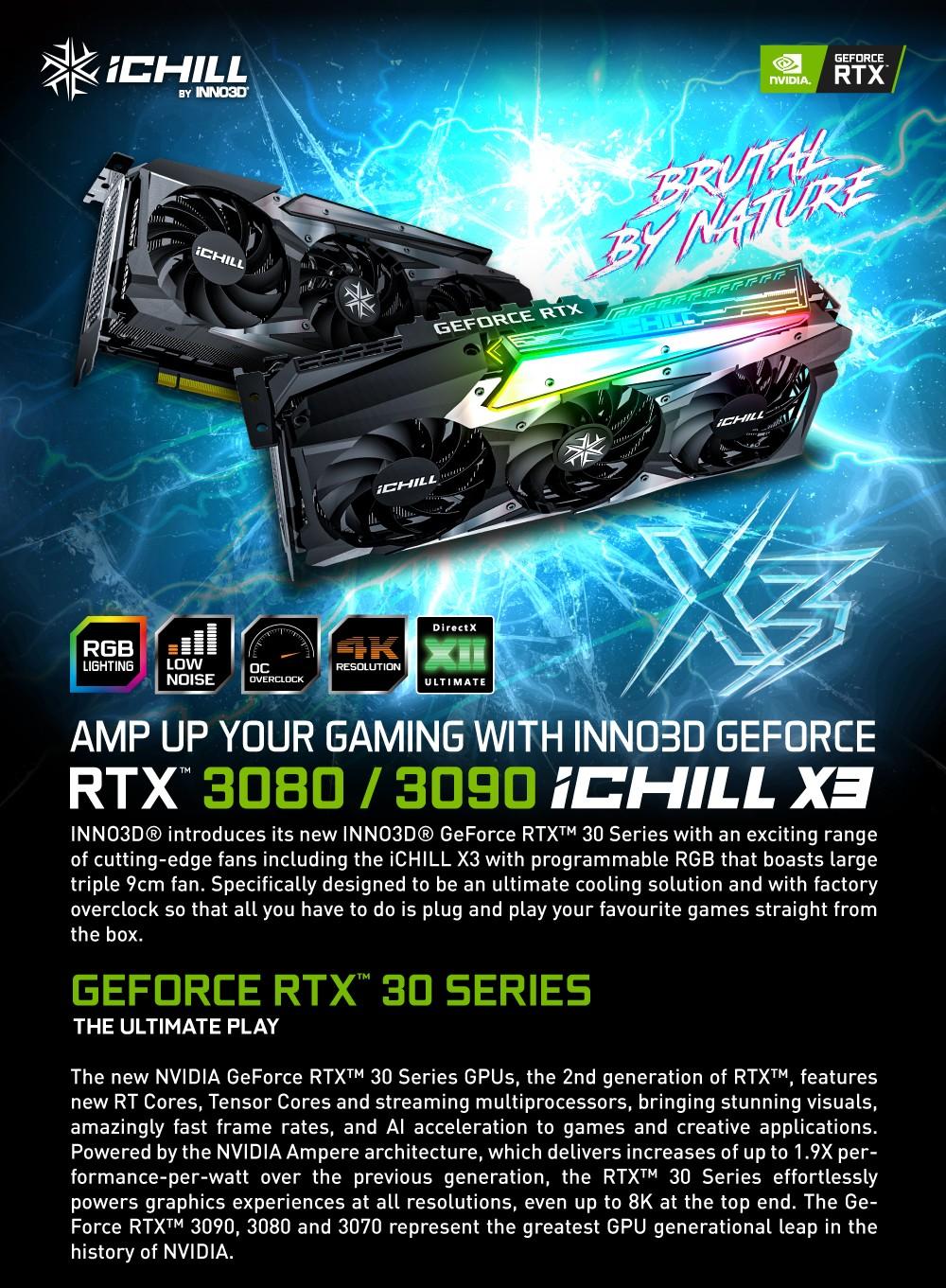 INNO3D RTX 3080 ICHILL X3