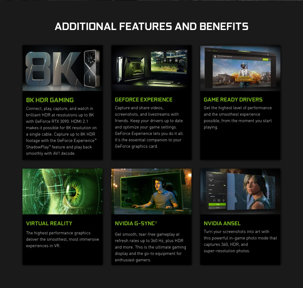 NVIDIA GeForce Addition Features And Benefits