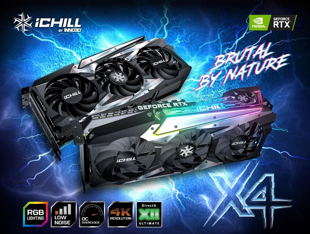 VGA INNO3D RTX 3090 ICHILL X4 là GPU có sức mạnh khủng