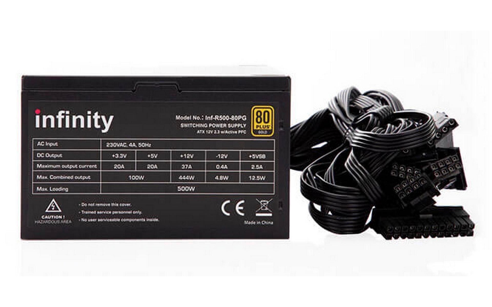 Nguồn máy tính Infinity Rampage 500W - 80 Plus Gold Single Rail