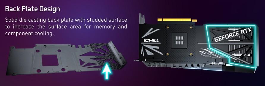 Inno3D RTX 3070 iChill X4 Back Plate