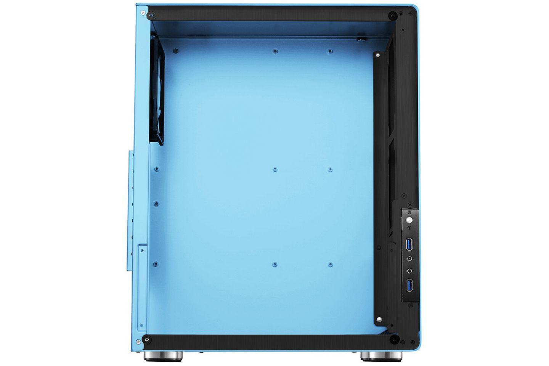 Jonsbo U4 Blue sử dụng toàn bộ kính cường lực cho tấm bên