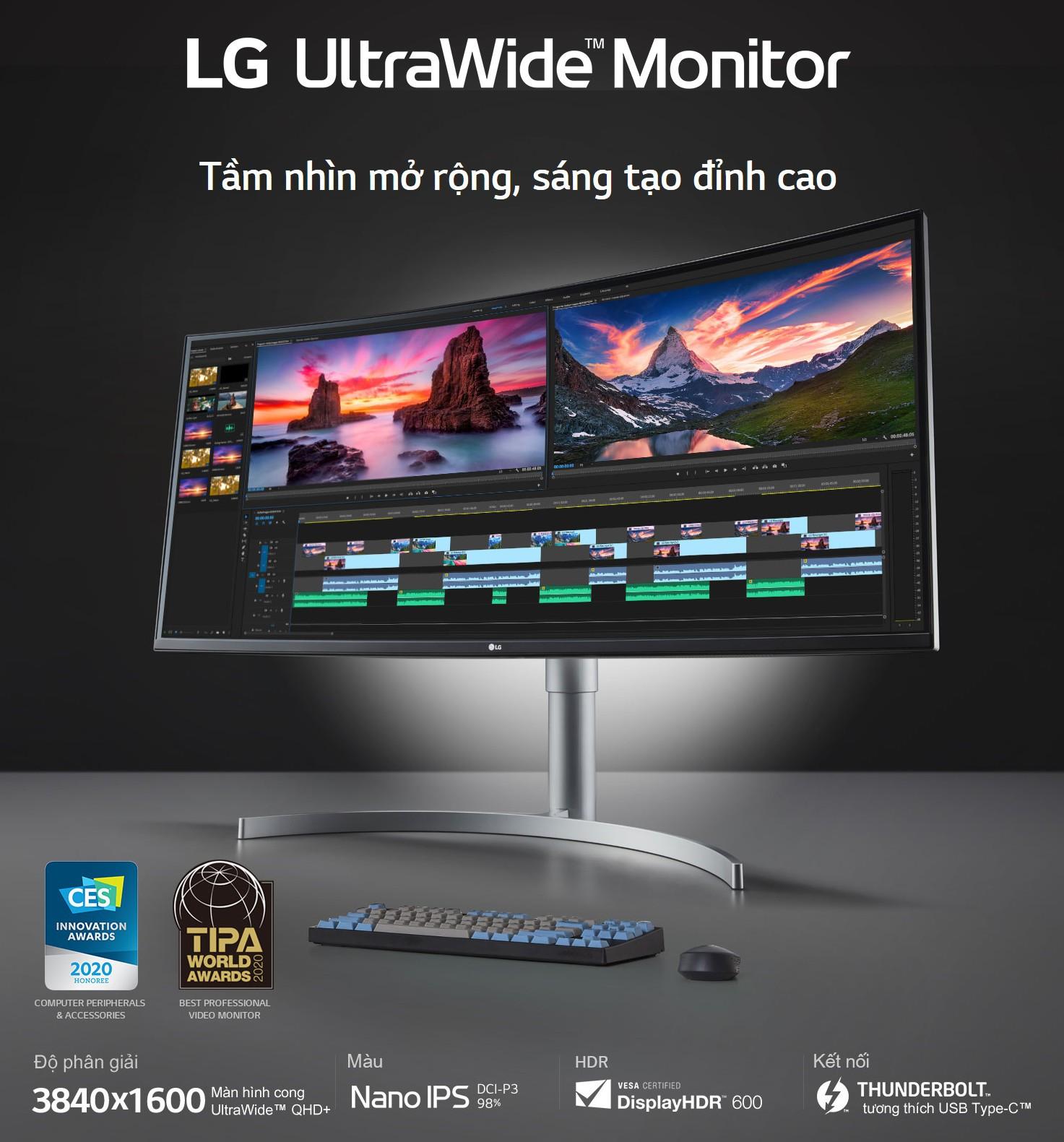 Màn hình cong LG 38WN95C-W box