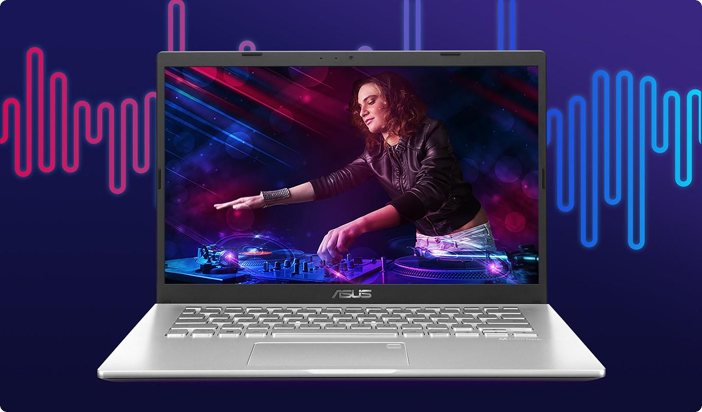Laptop D409DA-EK152T đảm bảo mang đến âm thanh mạnh mẽ và âm trầm