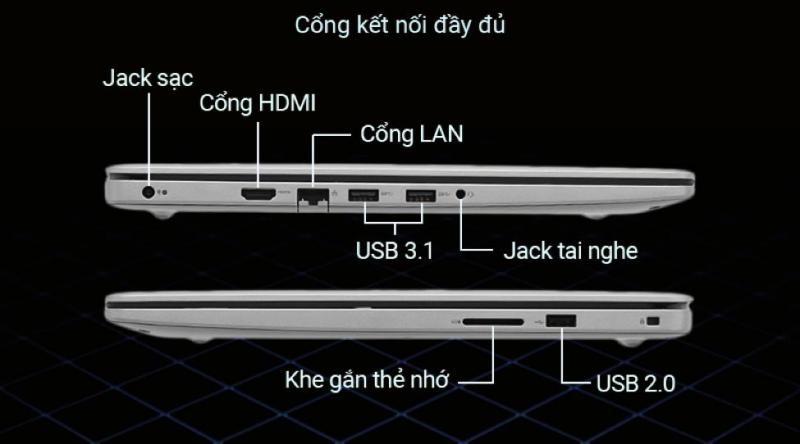 Dell Inspiron 3593 được trang bị những chuẩn kết nối thông dụng