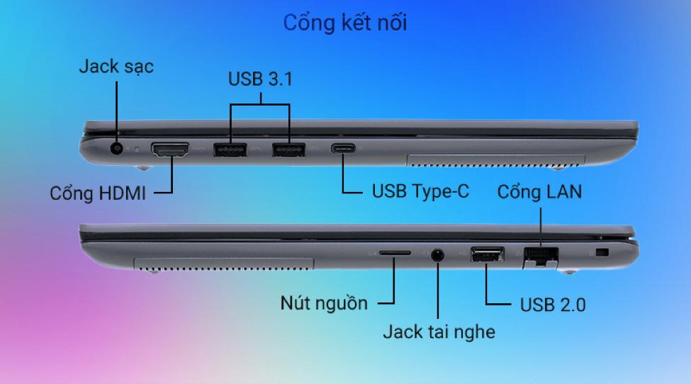 Laptop Dell Vostro 5490 kết nối
