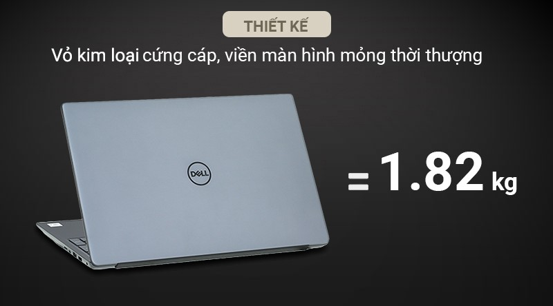 Laptop Dell Vostro 5590 – Thiết kế vỏ kim loại, viền mỏng thời thượng