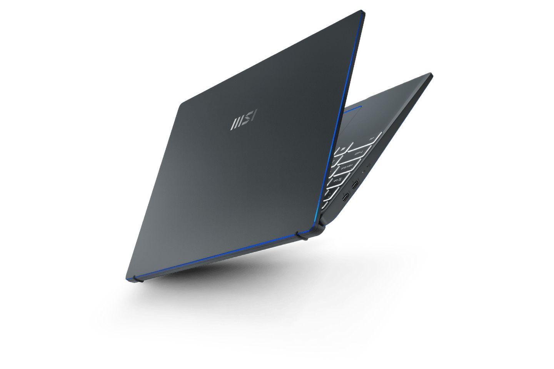 Laptop MSI Prestige 14 EVO A11M 089VN được sản xuất với thiết kế bản lề nâng 5 độ
