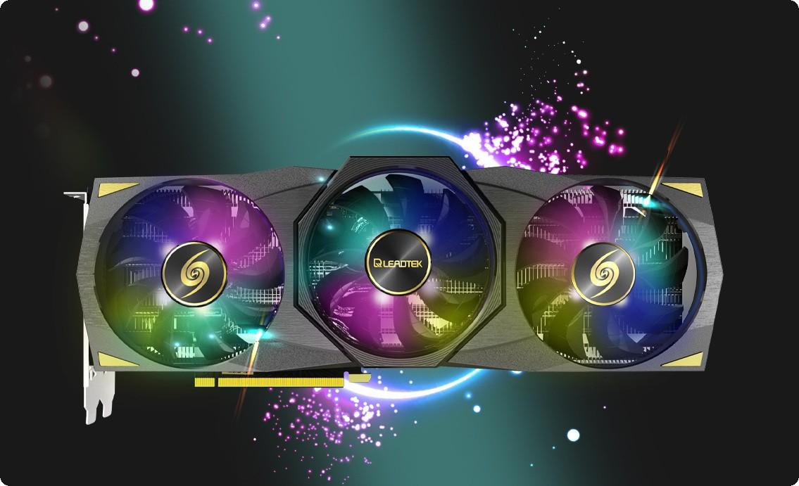 Card màn hình Leadtek WinFast RTX 3090 HURRICANE có đèn LED