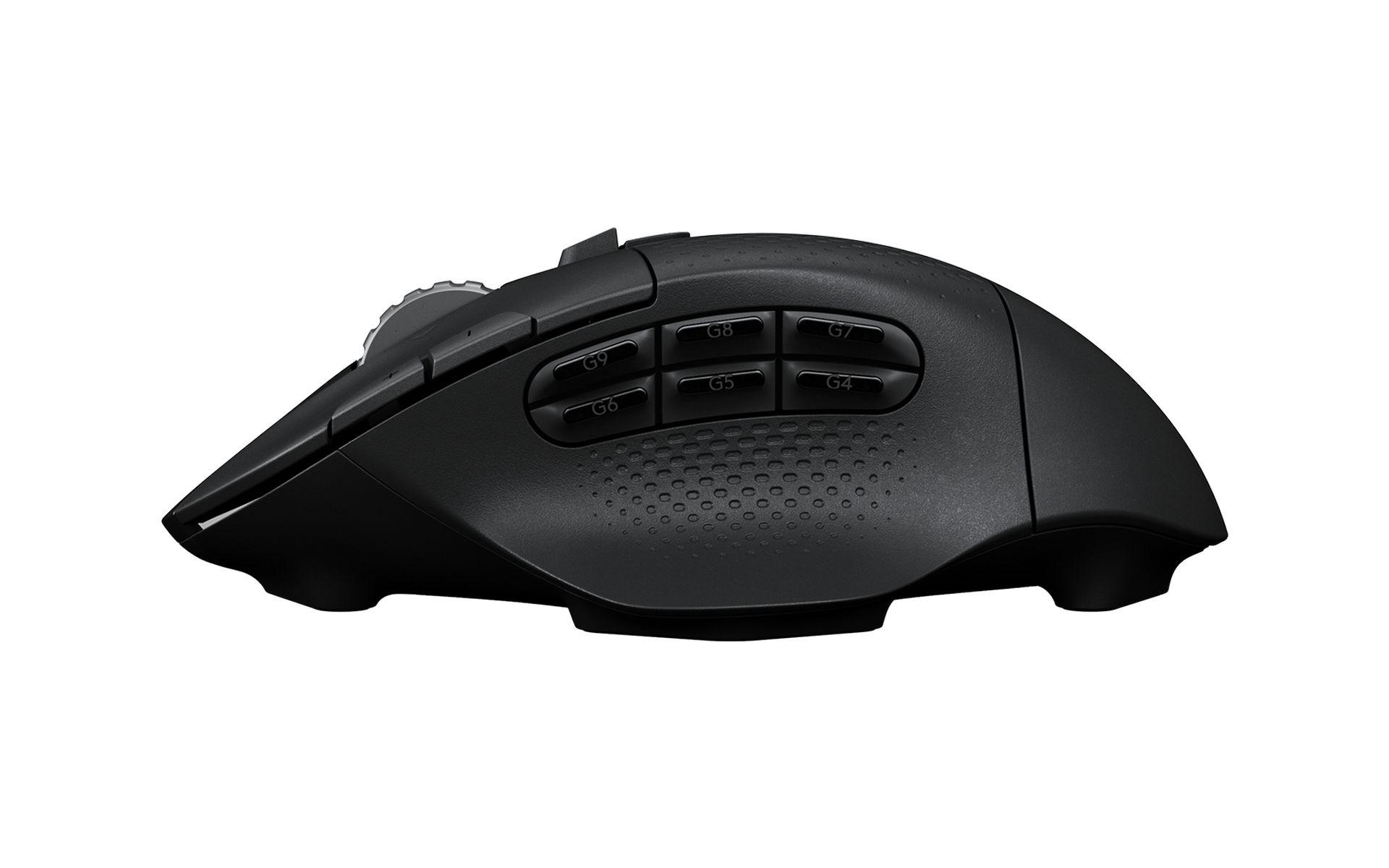 Logitech G604 HERO LIGHTSPEED WIRELESS có các nút điều khiển được đặt ở vị trí trực quan