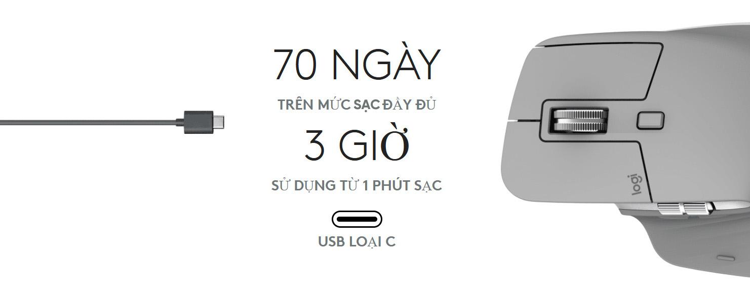Logitech MX Master 3 Mid Grey USB-C