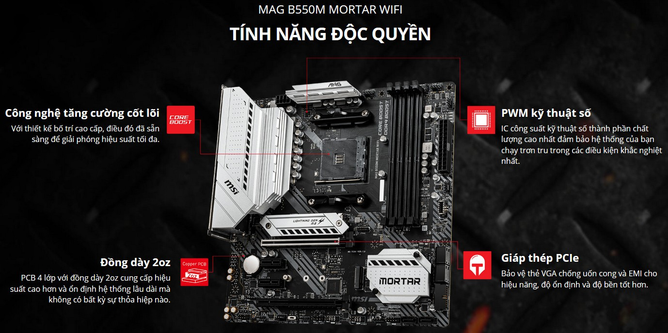 Mainboard MSI MAG B550M MORTAR WIFI
