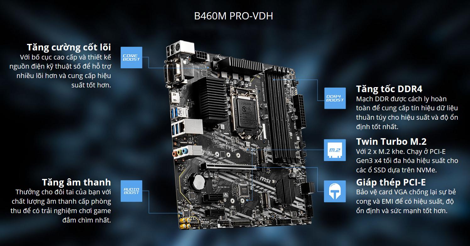 Mainboard MSI B460M PRO VDH