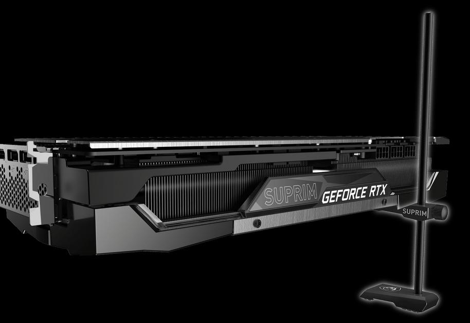 Card màn hình MSI GeForce RTX 3080 SUPRIM X 10G với chất lượng kết cấu vững chắc