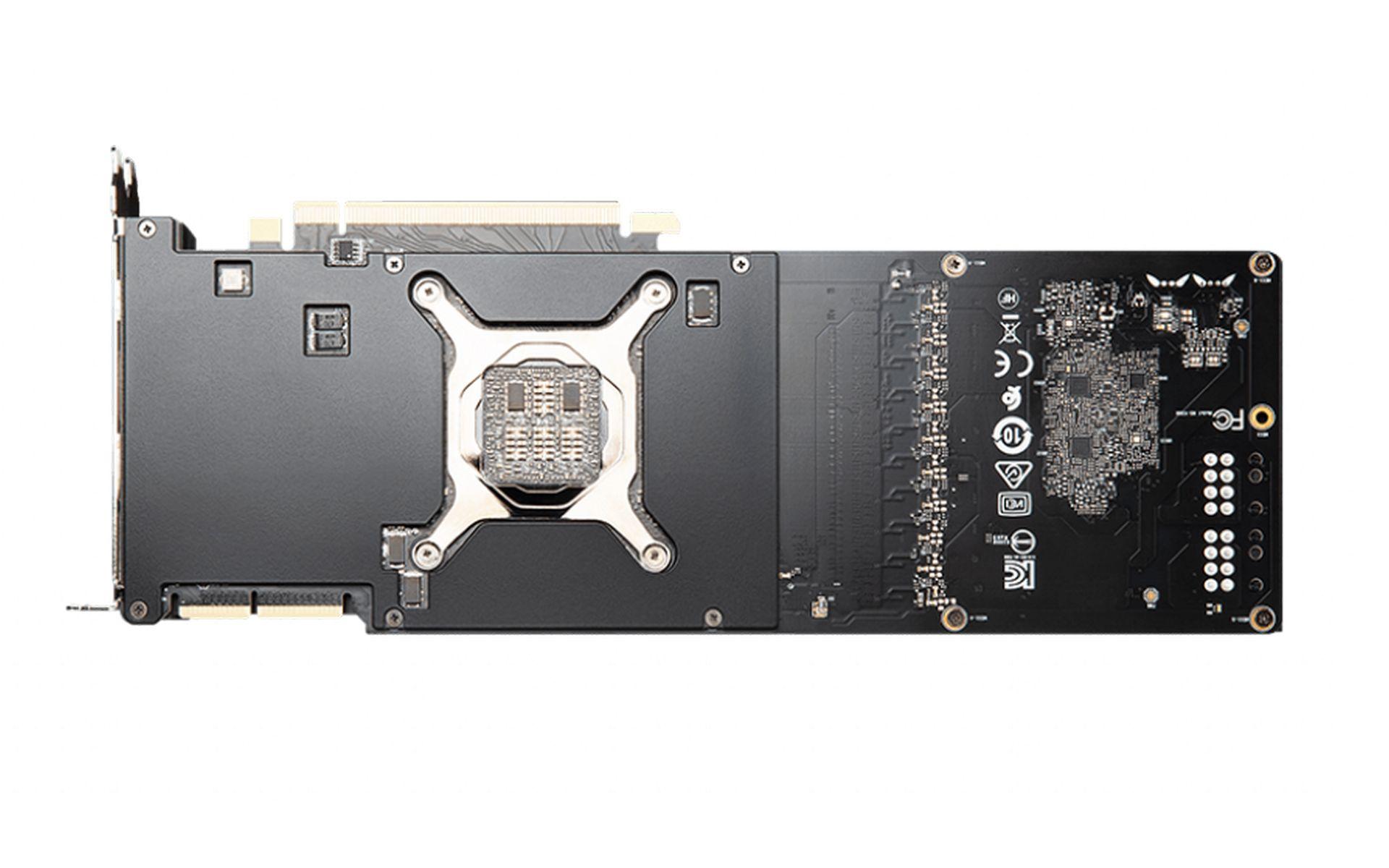 Card Màn Hình MSI GeForce RTX 3090 AERO 24G với thiết kế mặt sau bằng kim loại cứng