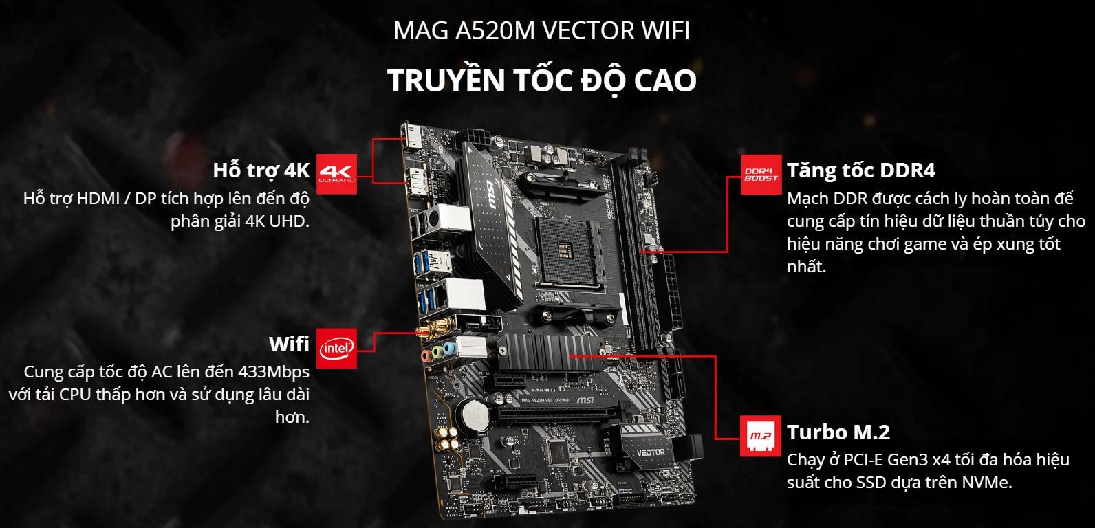 MAG A520M VECTOR WIFI
