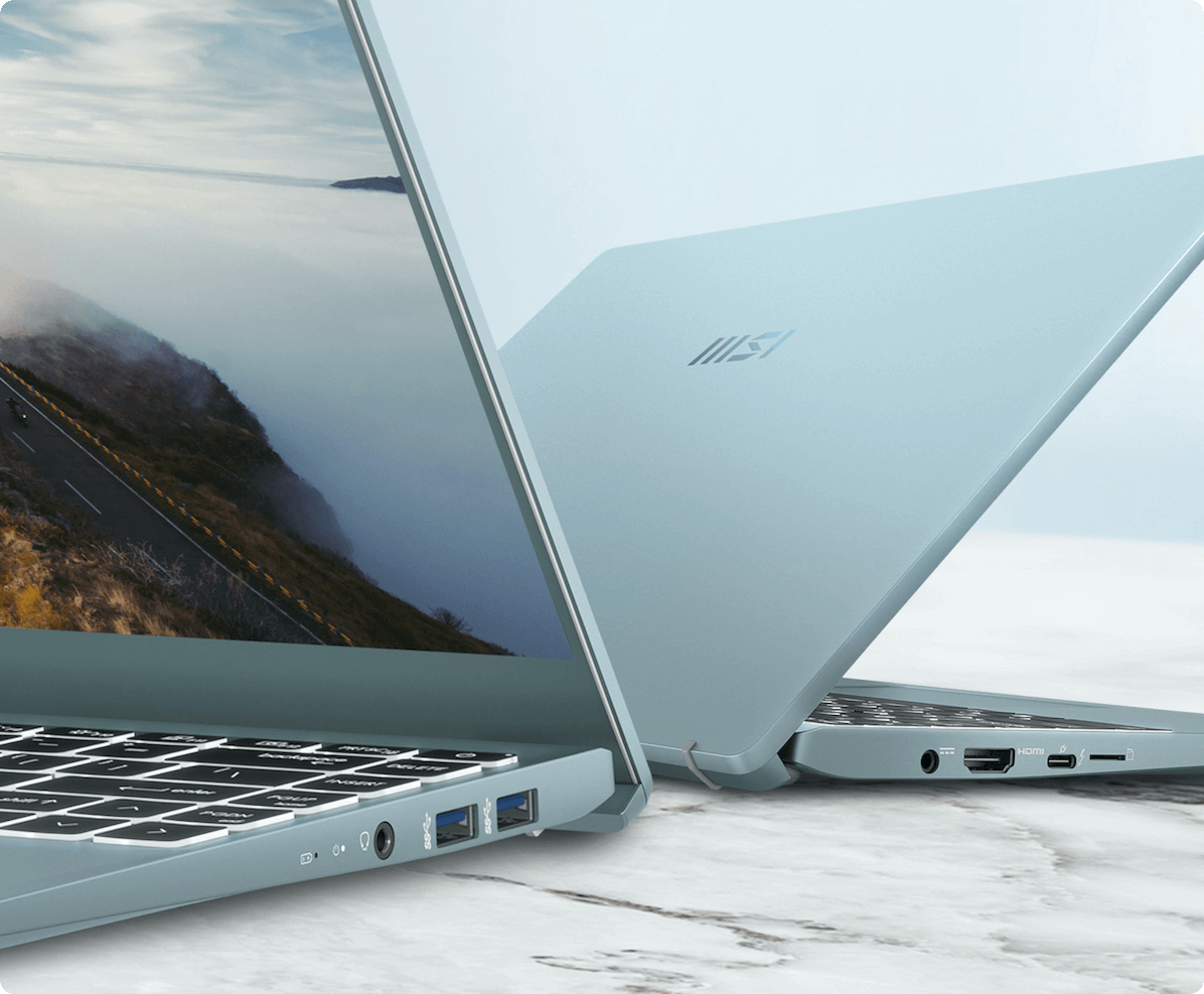 Laptop MSI Modern 14 B11M 073VN được trang bị hai cổng USB-A và cổng Thunderbolt 4