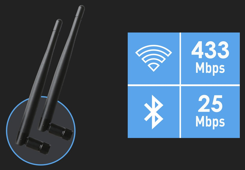 NEXT-GEN INTEL® WI-FI AC & BLUETOOTH