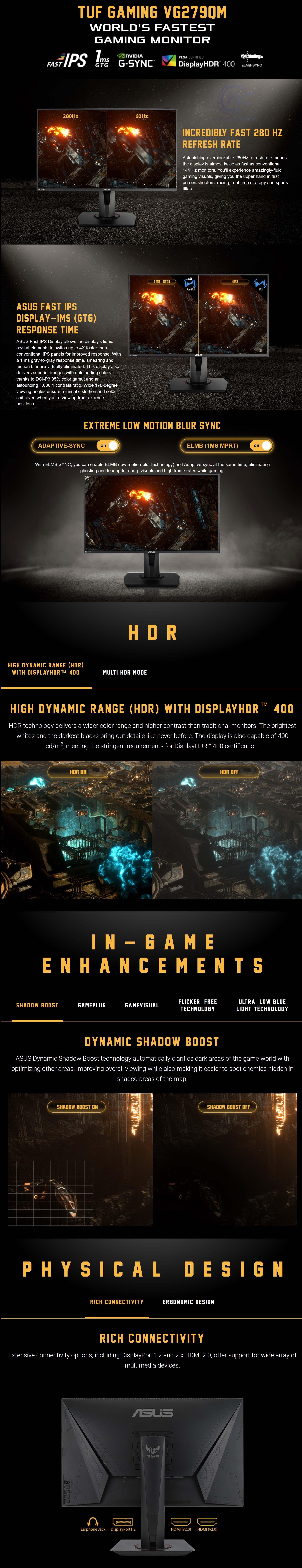 Màn hình ASUS TUF Gaming VG279QM
