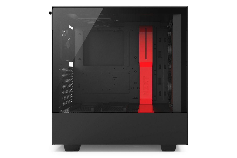 NZXT H500 Matte Black Red có nội thất màu đen huyền bí