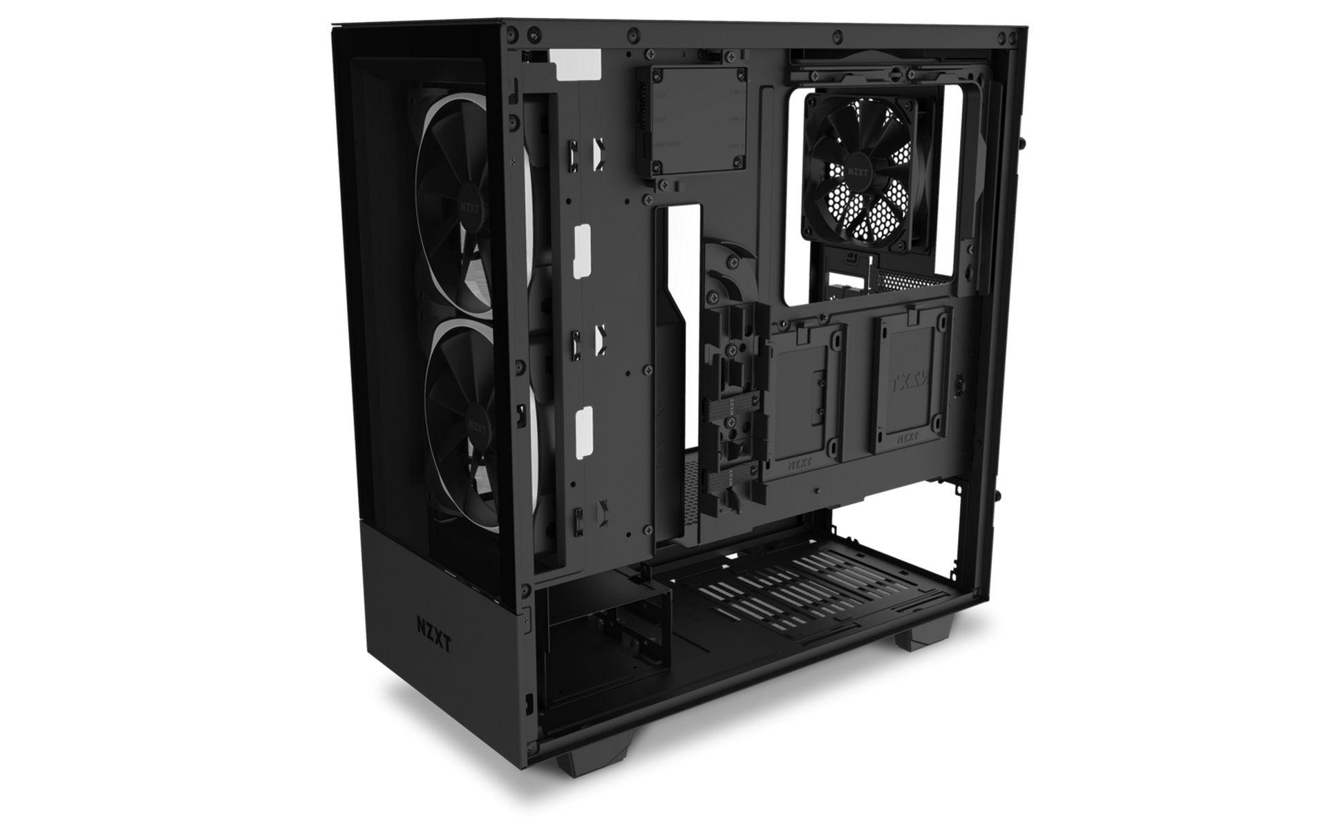 NZXT H510 Elite MATTE BLACK có giá đỡ bộ tản nhiệt có thể tháo rời