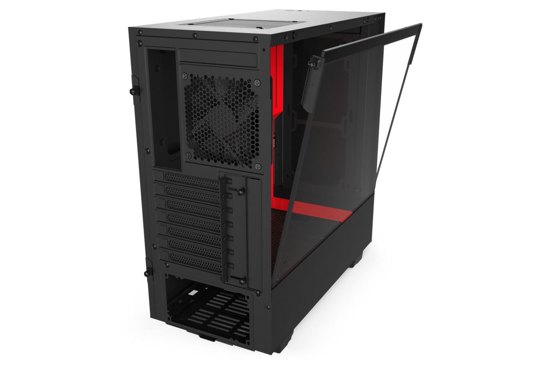 NZXT H510 Matte Black Red IO
