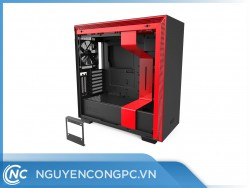 Vỏ Case NZXT H710i Smart Matte Black Red
