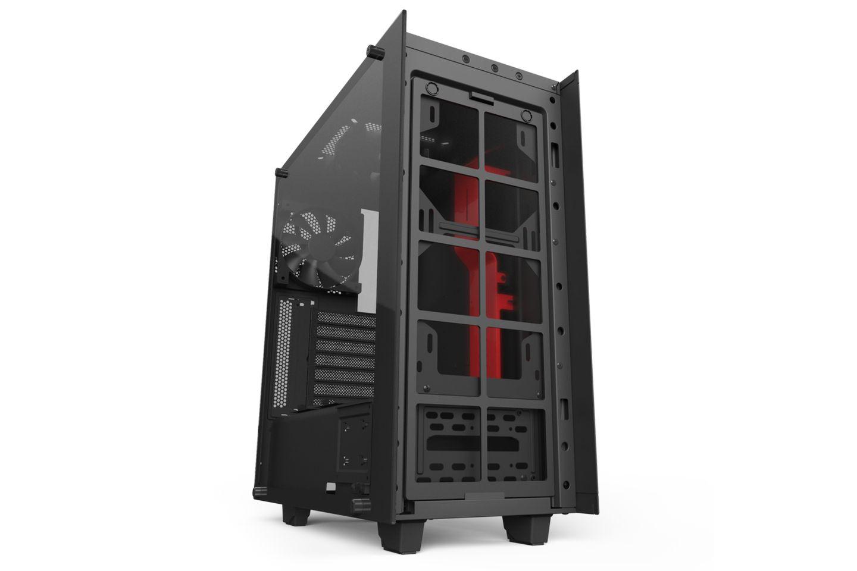 NZXT S340 Elite Matte Black Red có đầy đủ các loại lưới lọc