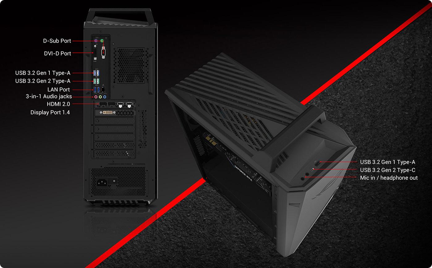 PC ASUS ROG Strix G15DH-VN001T có tốc độ truyền dữ liệu và sạc nhanh