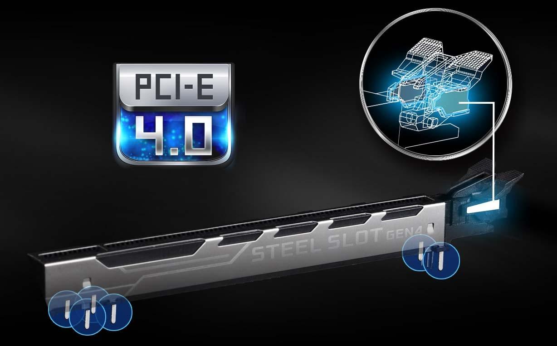 Khe PCIe thép gia cường [Phiên bản PCIe 4.0]