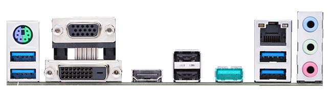 ASUS PRIME A520M-E có nhiều cổng USB