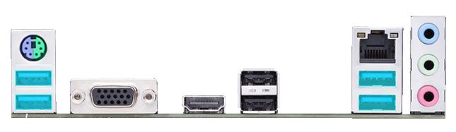 ASUS PRIME A520M-K có nhiều cổng USB