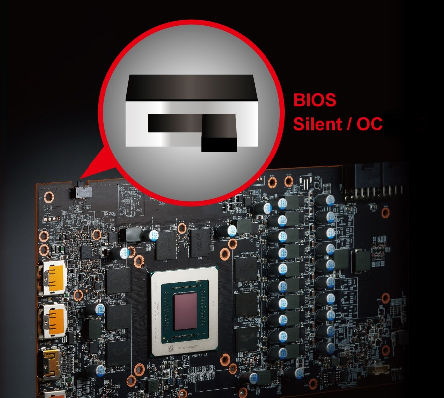 Red Devil RX5700 XT có BIOS kép