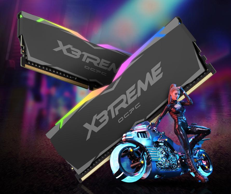 OCPC X3TREME RGB Black có thiết kế góc cạnh và sắc nét