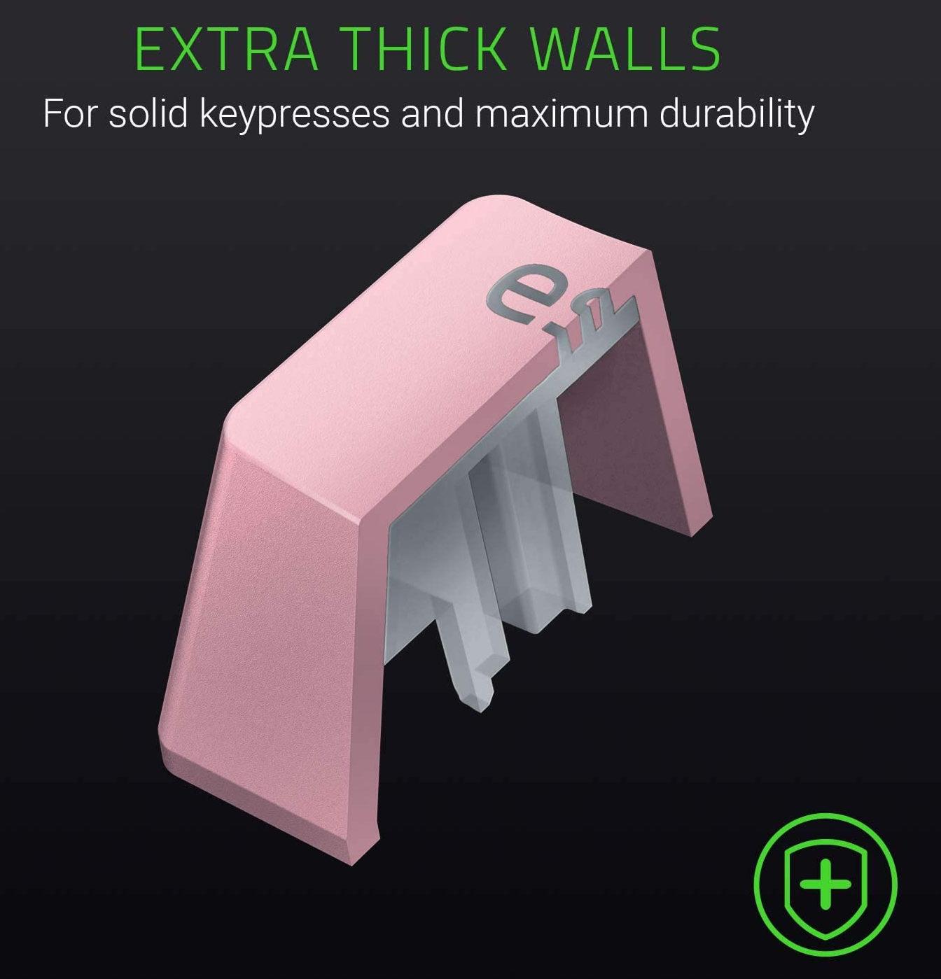Razer PBT Keycap Pink Sử dụng quy trình đúc kép