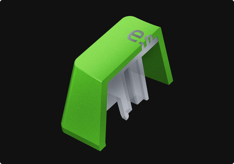 Razer PBT Keycap Green Sử dụng quy trình đúc kép