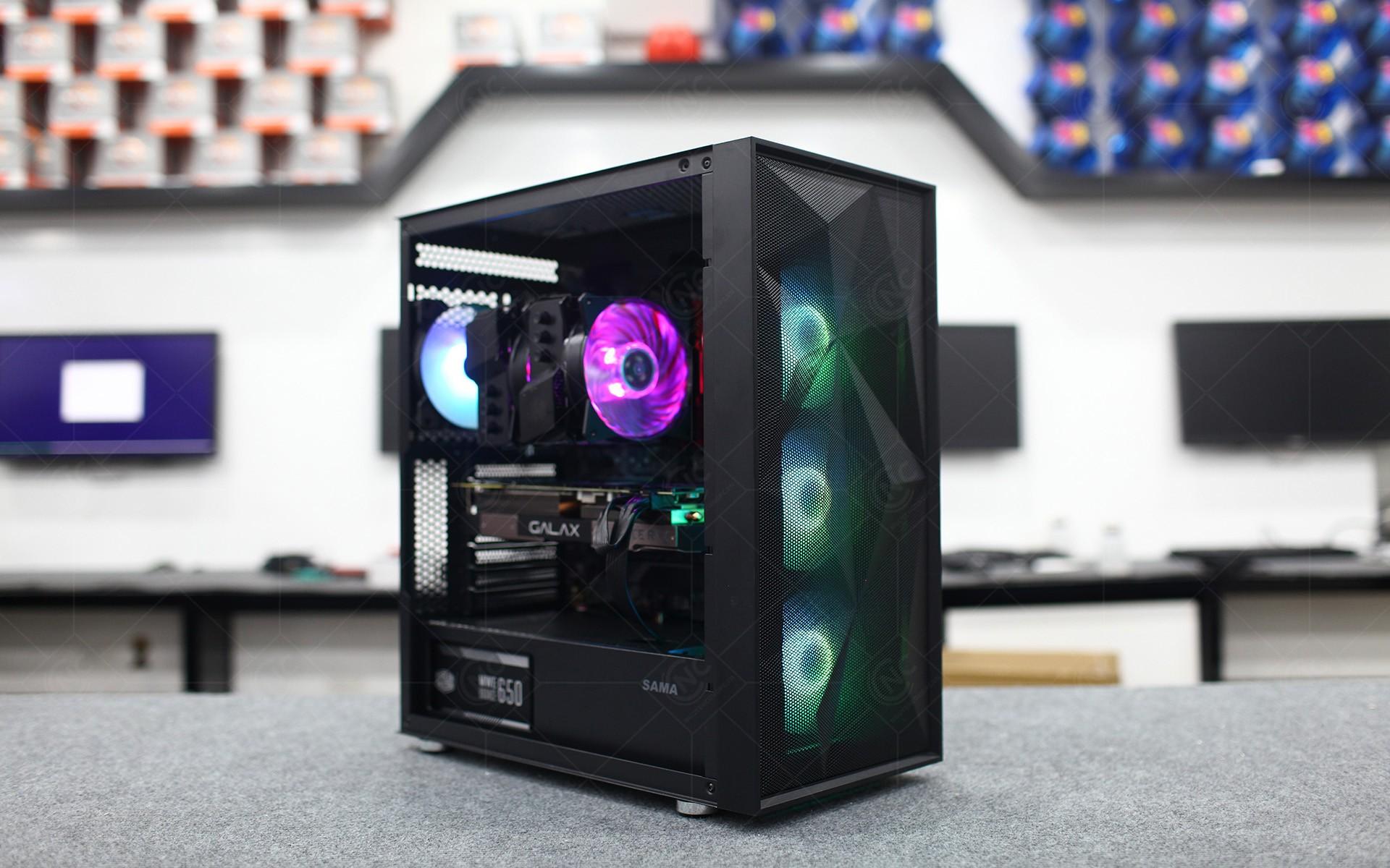 Vỏ Case SAMA 3708 kèm sẵn 3 FAN RGB