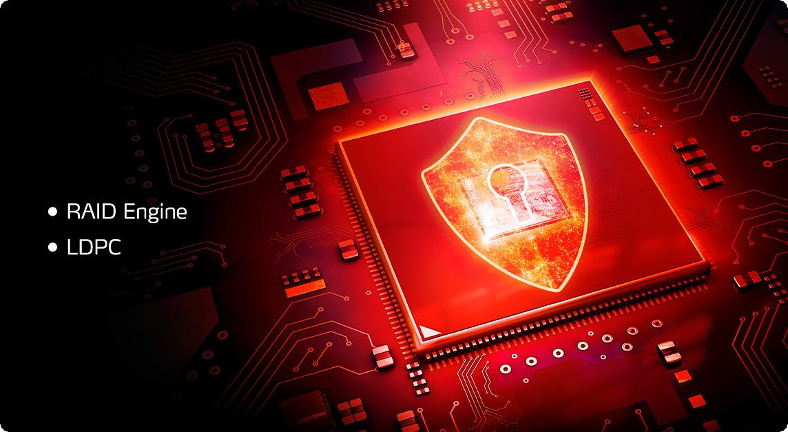 SSD ADATA XPG SX8100 256GB hỗ trợ công nghệ sửa lỗi