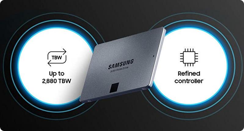 1TB 870 QVO tăng độ tin cậy lên đến 360 TBW