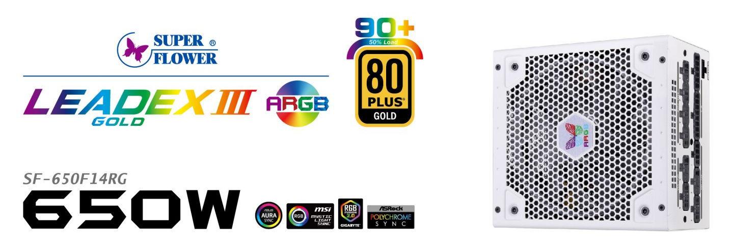 Nguồn Super Flower LEADEX III Gold ARGB 650W