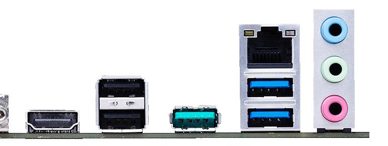 ASUS PRIME A520M-PLUS có nhiều cổng USB