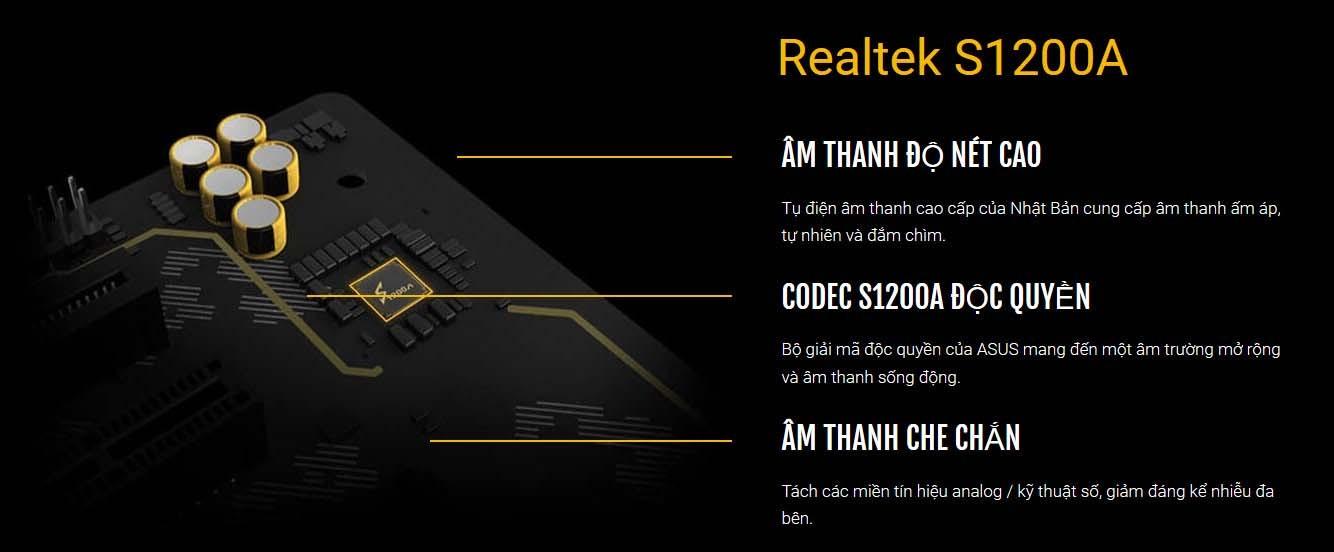 Codec Realtek Realtek S1200A Độc Quyền