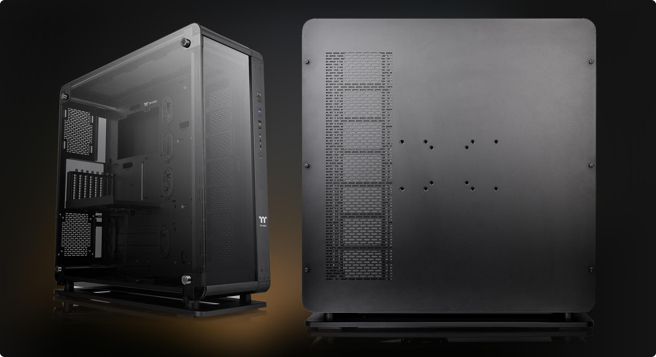 Thermaltake Core P8 TG được thiết kế để sử dụng theo hai cách