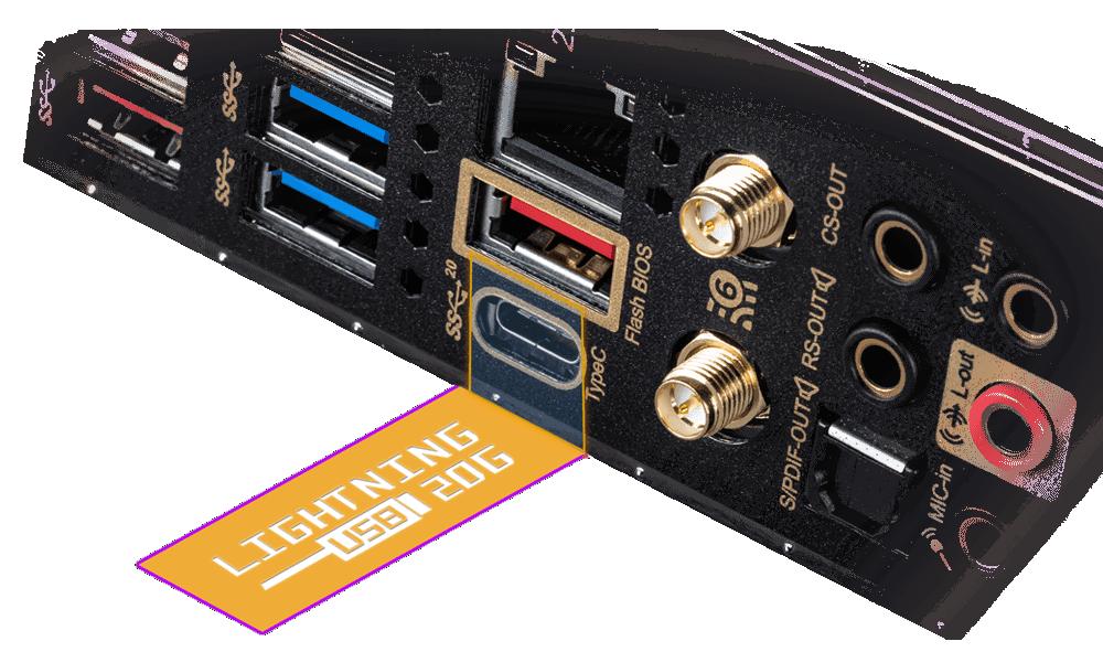 LIGHTNING USB 3.2 GEN 2x2 20G