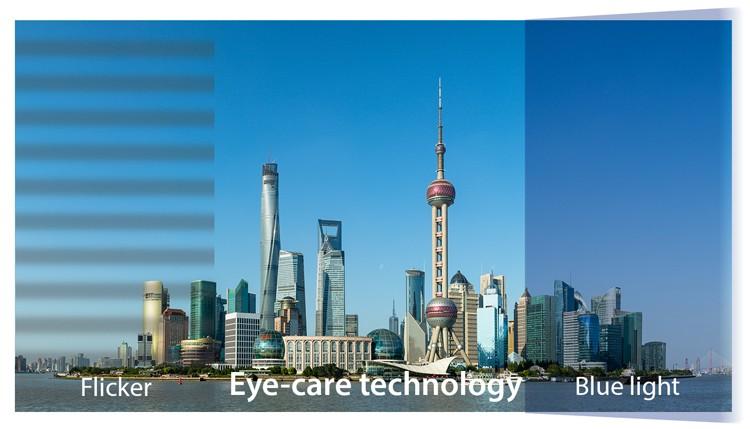 Công nghệ Flicker-Free và Blue Light Filter